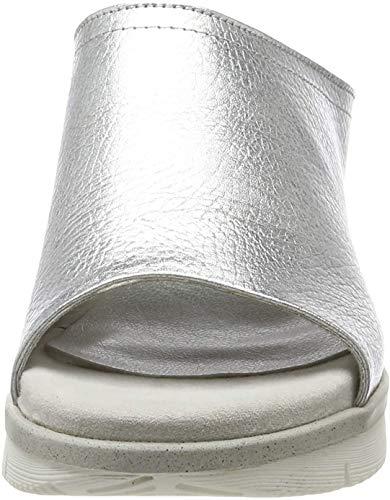 Marco Tozzi 2-2-27201-22, Mules para Mujer, Plateado (Silver 941), 42 EU