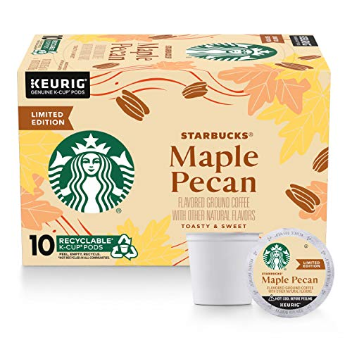 Starbucks Flavored K-Cup Coffee Pods — Maple Pecan for Keurig Brewers — 1 box (10 pods)