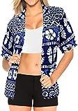 BOT�n de Encubrimiento Hawaiano Camisa de Manga Corta Traj