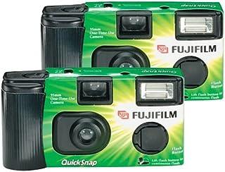 كاميرا فوجي فيلم كويك سناب فلاش 400 للاستخدام مرة واحدة مع فلاش (عبوتان)