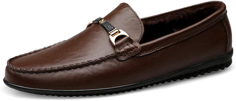 Yajie-schuhe, Männer Penny Loafers, Schuhe für Männer Mokassins Stiefel Stiefel Stiefel Casual Slip auf Wohnungen Bequeme Schuhe (Farbe   Warm Dark braun, Größe   40 EU) adab18