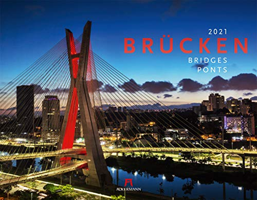 Brücken Kalender 2021, Wandkalender im Querformat (54x42 cm) - Architekturkalender