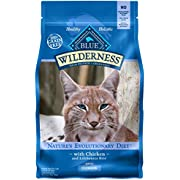 Blue Buffalo Wilderness High Protein Grain Free, Natural Adult Indoor Dry Cat Food, Chicken 2-Lb