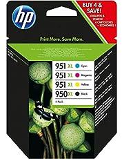 HP oryginalny - HP - Hewlett Packard OfficeJet Pro 8615 e-All-in-One (950XL/951XL / C 2 P 43 AE#301) - wkład atramentowy MultiPack czarny cyan magenta