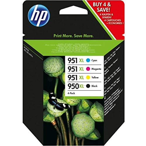HP original - HP - Hewlett Packard OfficeJet Pro 8615 e-All-in-One (950XL/951XL / C 2 P 43 AE#301) - Tintenpatrone MultiPack black cyan magenta