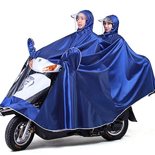 Electric Mobility Scooter Motorfiets Grote Rain Cape Coat, Om Te Fietsen, Hardlopen, Unisex - Hooded Compact Rain Cape,Blue,5XL