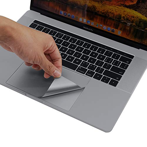 lention Palm Rest Cover Skin Compatible with MacBook Pro (15 inch, 2016-2019) with Thunderbolt 3 Ports, Protective Vinyl Decal Sticker with Trackpad Protector (Space Gray)