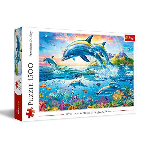 Trefl 1500 Piece Jigsaw Puzzle, Dolphin Family