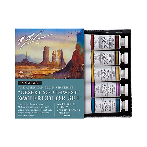 M. Graham & Co. Watercolor Set Watercolor Set, Watercolor Sets, Desert Southwest 5 Color Watercolor Set, 2 Fl Oz