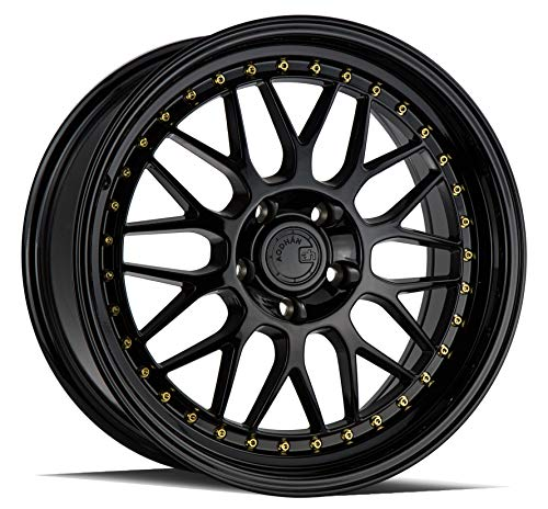 AodHan Dual Phase Forged AH02: 18x8.5 Wheel, 5x120 Bolt pattern, 72.6mm Hub Bore, 35mm Offset - Gloss Black (Gold Rivet)