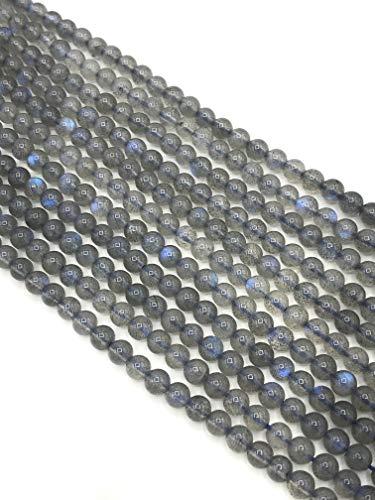 Natural AAA 4 mm redondo labradorita piedras preciosas sueltas para hacer joyas DIY pulsera collar perlas 15.4 pulgadas hilos completos