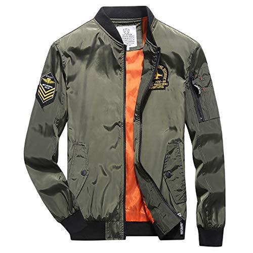 Bumen Bomberjacke Herren Long Sleeve Herren Jacke Slim Streetwear Top Herbst-Winter Top Herren Strickjacke Classics Herren Mantel Sweatshirt...