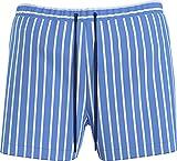 Tommy Hilfiger Medium Drawstring Bañador para Hombre, Breaker Blue Stripe, S