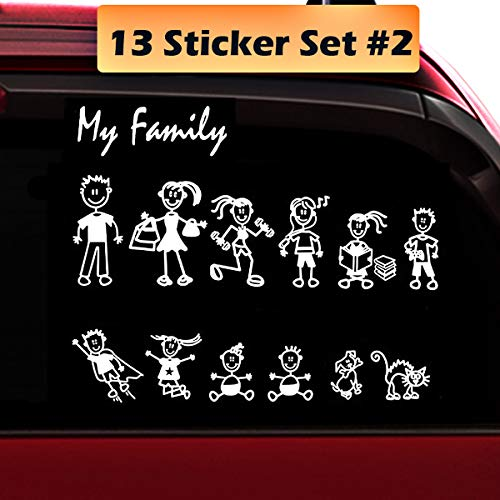 family stickers for back of car - 1
