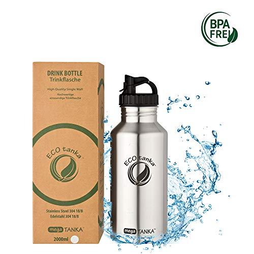 ECOtanka - Poly-Loop-Verschluss, Edelstahl-Trinkflasche - 2000 ml