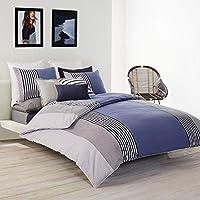 Lacoste Meribel Cotton Bedding Twin / TwinXL Comforter Set (Blue/White)