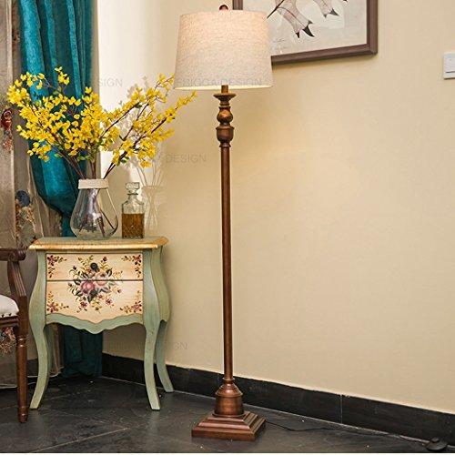 XIN Home vloerlamp, staande lezen, Europese stijl Amerikaanse stijl landelijke vloerlamp woonkamer studie slaapkamer creatieve decoratie staande lamp oogbescherming verticale tafellamp