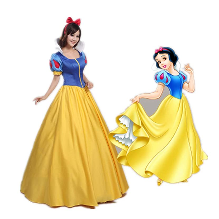 Halloween Women Snow White Princess Dress Snow White Cosplay Fancy Role Play Stage Costume