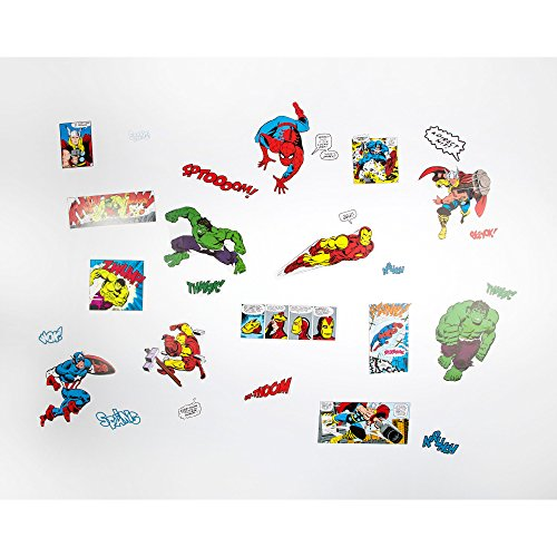 Marvel Comics Multi Set Coloured Wall Stickers 70-325
