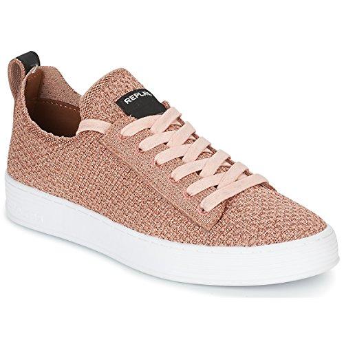 REPLAY DROW W Sneakers dames Roze Lage sneakers