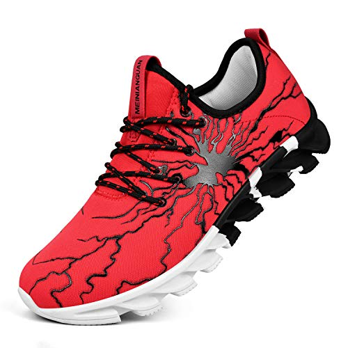 Honnesserry Men's Sneakers Non Slip Tennis Work Shoes Graffiti Fashion Slip on Resistant Athletic...