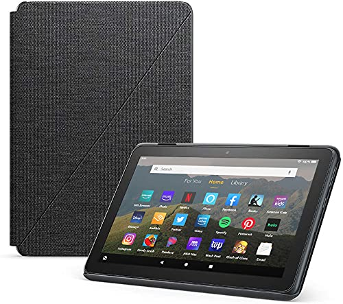 Amazon Fire HD 8 Cover, compatible with 10th generation tablet, 2020 release, Charcoal Black