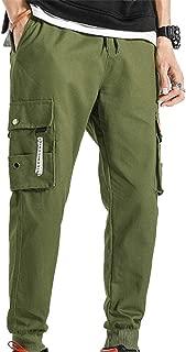 Pantalones Casuales para Hombre Streetwear Bottom Multi-Pocket Durable Sports Jogging Nueve Puntos Pantalones Overol Harem Cargo Pants