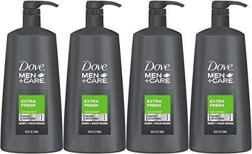 Dove Men+Care Body Wash, Extra Fresh, 23.5 Ounce (Pack of 4)