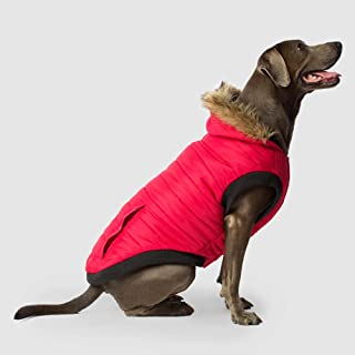Canada Pooch | North Pole Dog Parka | Water-Resistant Insulated Dog Jacket (10, Red)