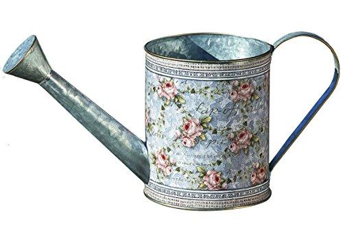 Home Collection - Muebles, decoración - regadera para Flores y Plantas - Motivo: Floral - Estilo: Shabby Chic, rústico - Color: Gris - Material: Zinc - 35 cm