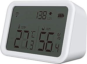 Tuya Smart Life Sensor Zigbee de temperatura e umidade Higrômetro interno Termômetro com display LCD Suporte Alexa Google ...