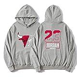 Bulls No. 23 Jordan Basketball Hoodie Sudadera Fina para Hombre, Primavera y Oto?o