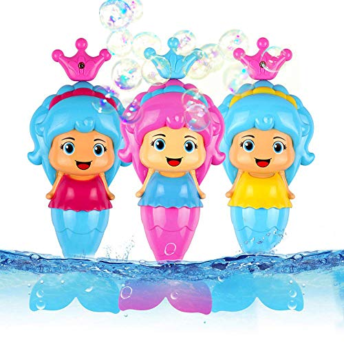 Conquer Baby - (3 Pack) Bath Toys for Toddlers Kids Girls - Mermaid Princess Wind Up Tail Flap...