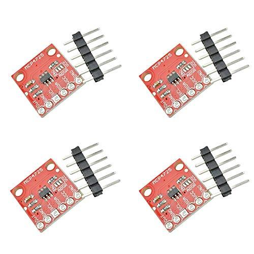 ZHITING 4 Stück MCP4725 I2C-DAC-Breakout-Modul 12-Bit-Auflösung I2C-DAC-Entwicklungsplatine 2,7 V bis 5,5 V Versorgung mit EEPROM Kompatibel mit Arduino Raspberry Pi