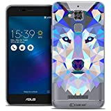 Caseink - Coque Housse Etui pour ASUS Zenfone 3 Max ZC520TL (5.2) [Crystal Gel HD Polygon Series Animal - Souple - Ultra Fin -...