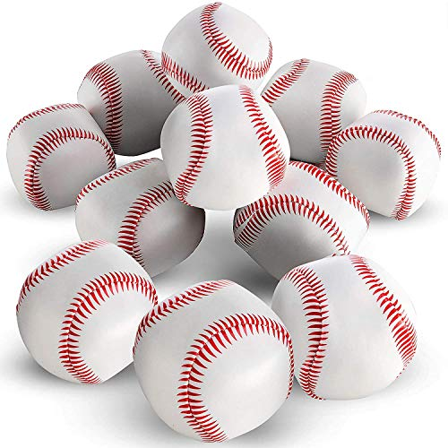 Bedwina Mini Soft Baseballs - Pack of 24 Bulk - 2' Sports Themed Foam Baseball Toys and Squeeze Stress Relief Balls, Party Favor Supplies, Gifts and Stocking Stuffers for Kids