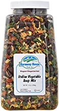 Harmony House Italian Vegetable Soup Mix – Gluten Free, Low Sodium, For Cooking, Camping, Emergency Supply & More (14 oz. Jar)