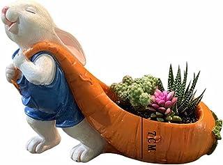 フラワーポット 鉢 園芸ポット 植木鉢 ガーデン 室内 室外 プレゼント 園芸用品 兎 ANJYUU