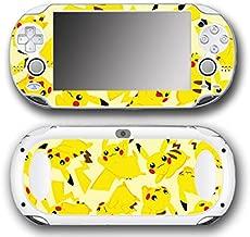 Pikachu Art Pokemon Go Design Pokeball Video Game Vinyl Decal Skin Sticker Cover for Sony Playstation Vita Regular Fat 1000 Series System