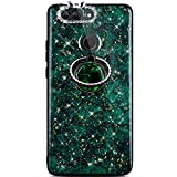 Robinsoni Huawei Nova 2 Plus Coque 360 Degrés Rotation Ring Bague Diamond Brillant Glitter...
