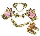 Tigre Bandeau Nœud Papillon Orange queue Gants Chaussures 5Animal Costume pour enfants