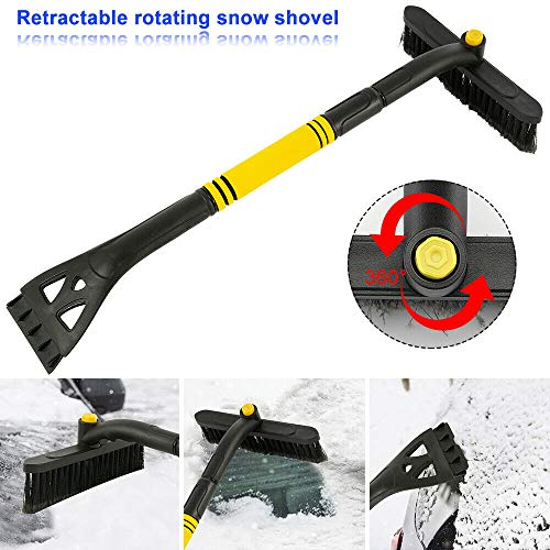 Fantastic Deal! Destinie 360°Ice Scraper with Brush for Car Windshield Snow Remove Frost Adjustable...