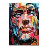 Leinwanddruck Personalisierte, Großen Abstrakten Mann Gesicht Portrait Bilder Drucken Auf Leinwand Wand Kunst Poster Für Wohnzimmer Schlafzimmer Home Dekorative Gemälde, 8 X 12 Zoll (20 Cmx 30 Cm).