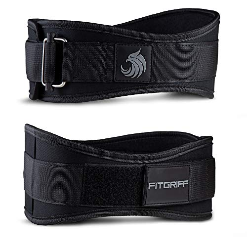 Fitgriff® Gewichthebergürtel V2 - Gewichtheber Gürtel für Damen und Herren - Bodybuilding, Krafttraining, Crossfit Training - Trainingsgürtel, Weightlifting Belt, Gym Workout (Full Black, M)