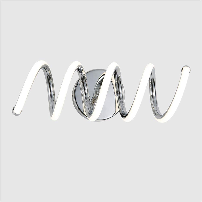 Nachtwandlampen, LED Modern Classic Nordisch Chrom Amerikanisch Kreativ Eisen Aluminium Linear Innenbeleuchtung Energiesparend,29W