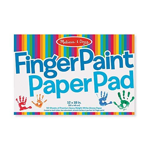 MelissaampDoug Finger Paint Paper Pad 12quotx18quot