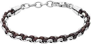 Fossil Men's Silver Bracelet, JF02936040