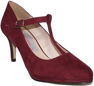 Amazon.es: zapatos burdeos mujer Zapatos de tacón