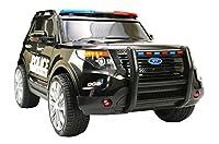 ES-TOYS Kinderfahrzeug - Elektro Auto US Police SUV - 12V7AH Akku,2 Motoren- 2,4Ghz Fernsteuerung, MP3, Sirene und Megaphone
