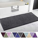 ITSOFT Non Slip Shaggy Chenille Soft Microfibers Runner Large Bath Mat...